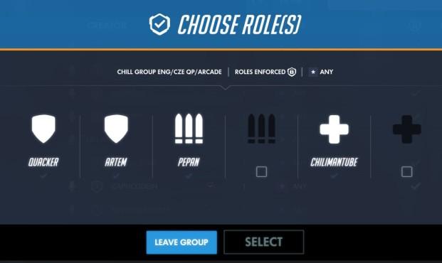choose roles